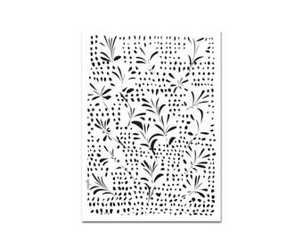 Wachsen - Plakat, Blätter Blumen Muster, schwarz und weiß-Kunst, Geschenkideen, Housewarminggeschenk, skandinavischen Dekor, minimalistisches Design