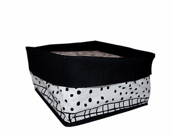 Gefüttert Platz Stoff Eimer schwarz und weiß und Gitter-Muster, Raumdekoration, nordisches Design, Einweihungsparty,