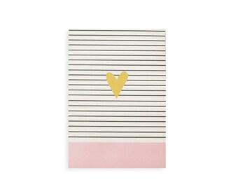 Illustrierte Notebook 100 gefüttert Blätter Geschenk für ihr Herz-Design Pink und Gold Mädchen Notebook niedlich Notebook minimalistisches design