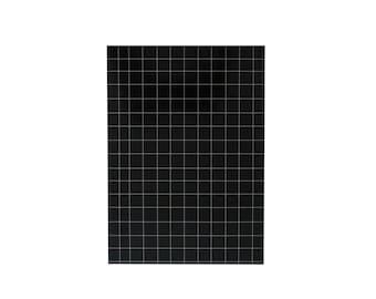 """Notizbuch 100 gefüttert Blätter - A5 14.8cmX21cm dargestellt (5.8"""" x 8. 3"""") Gitter schwarz und weiß Notizblöcke Kawaii Minimal Notebook"""