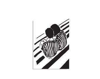 Abbildung Poster, schwarz und weiß-Kunst, Urban Art, Geschenk-Ideen, den Austausch von Geheimnisse, minimale Dekor, inspirierende Dekor