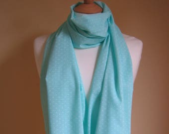 Scarf/Polka dot scarf/Mint green scarf/Mint green scarf/Womens scarf/ scarf shawl/Scarf gift for her/Scarf wrap/ Cotton scarf/