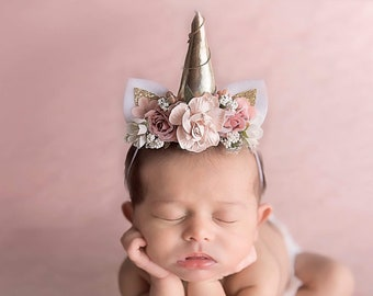 Baby Unicorn - Unicorn Horn - Newborn Unicorn - Photo Props - Unicorn Party  - Unicorn Headband - Mini Unicorn - Fantasy Unicorn - Princess d5e395eb4e2