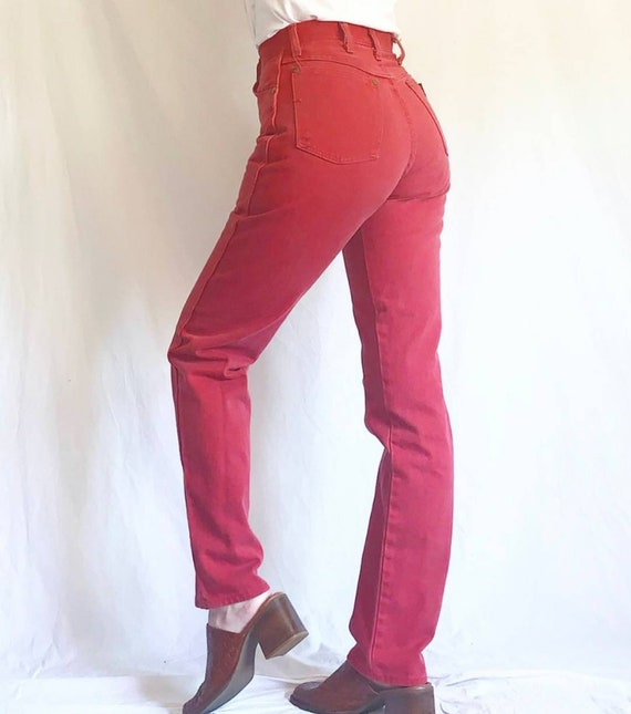 Vintage 70s Red High Rise Wranglers