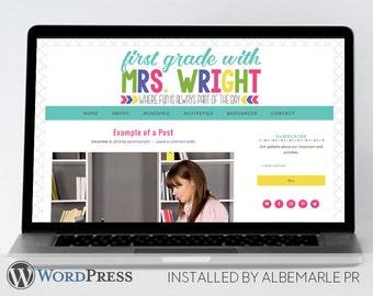 Premade Genesis Framework WordPress Template // Genesis Child Theme // Teacher WordPress Theme  - Mrs. Wright