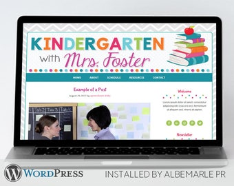 Premade Genesis Framework WordPress Template // Genesis Child Theme // Colorful WordPress Theme  - Mrs. Foster