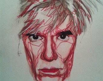Andy Warhol Watercolor Portrait