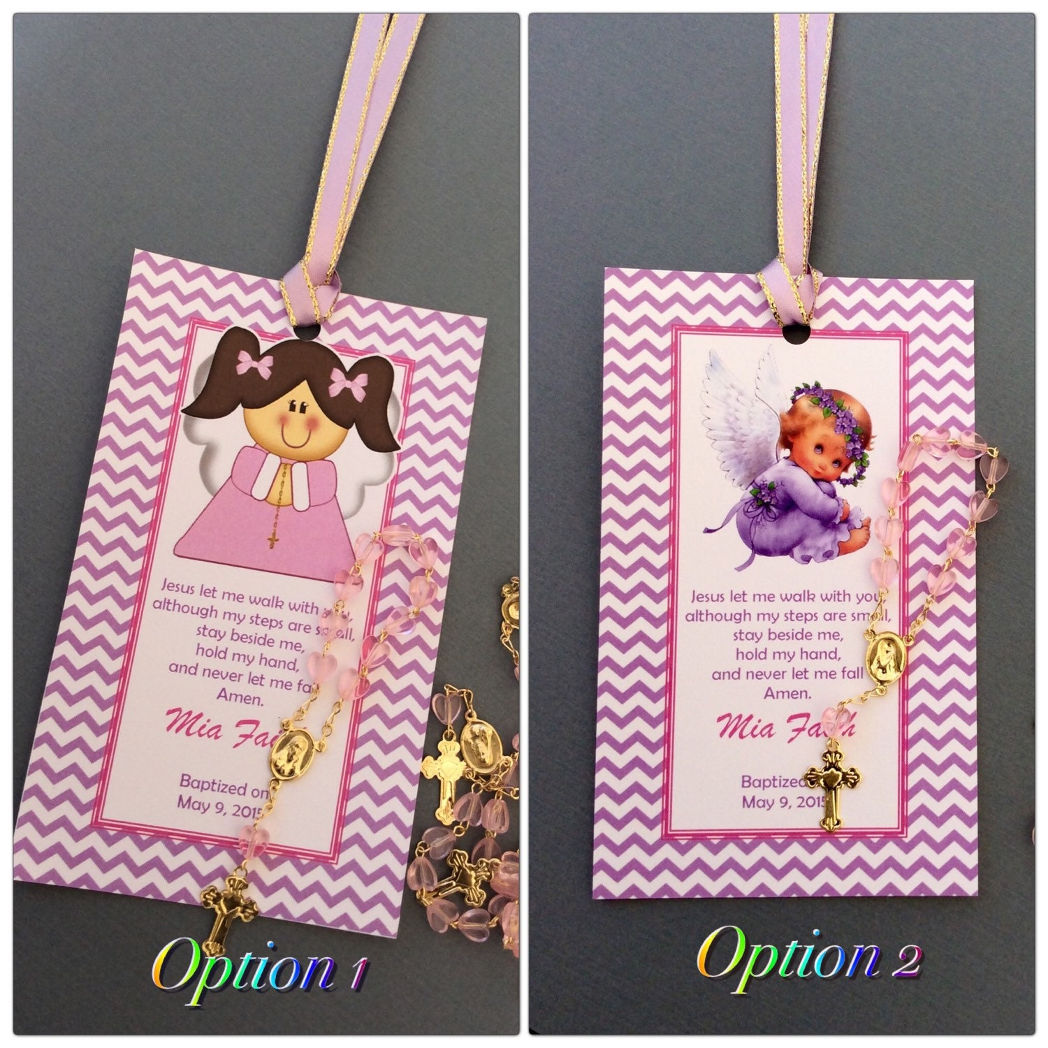 12 baptism favors with mini rosaries-girl Baptism favors- Christening  Baptism favor-baptism favors- purple baptism favor
