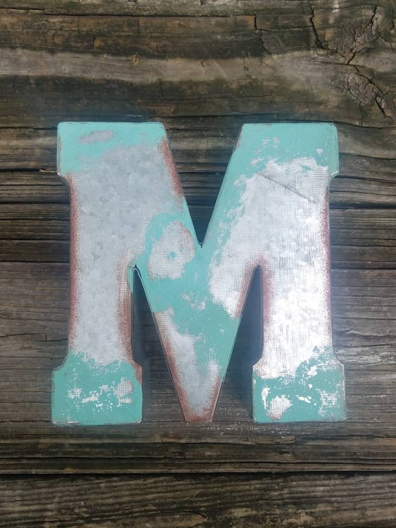 Sale Custom finish colors Galvanized Metal Letter 7 | Etsy