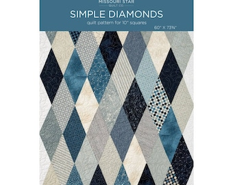 "Simple Diamond Quilt Pattern by MSQC 10"" Precut Pattern"