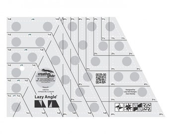 Creative Grids Lazy Angle Quilt Ruler # CGR3754