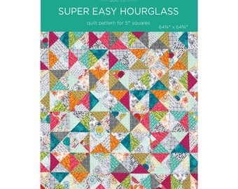 "Super Easy Hourglass Quilt Pattern by MSQC for 5"" Squares"
