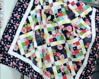 French Garden Quilt Pattern from Swirly Girls # SGD007
