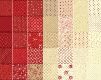 Farmhouse Reds Jelly Roll by Minick & Simpson for Moda Fabrics