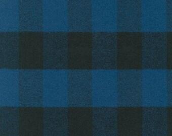 Mammoth Flannel BLUE Yardage BTY SRKF-14876-4