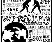Wrestling Locker Sign - PDF