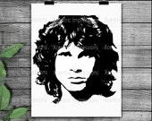 Jim Morrison SVG silhouette, Jim Morrison PNG, cut files, Jim Morrison silhouette, svg files, png files, Jim Morrison vinyl stencil