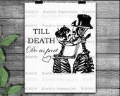 Till death do us part SVG, Silhouette files, Cutting files, love, instant download, Till death do us part PNG, skulls SVG, skull stencil