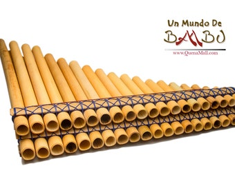 Professional Panflute Chromatic Zampona 40 Beveled Pipes Cromatica tubos bisel