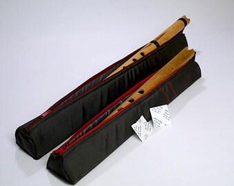 Flute Case for Piccolo Quena Quenacho Nylon Rigid Foam Zipper