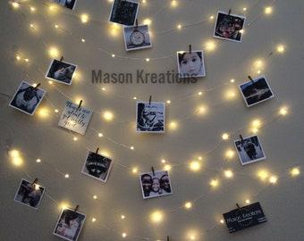 Hanging Light Photo Display, fairy lights battery, dorm decor, fairy light dorm, hanging fairy light, fairy lights bedroom