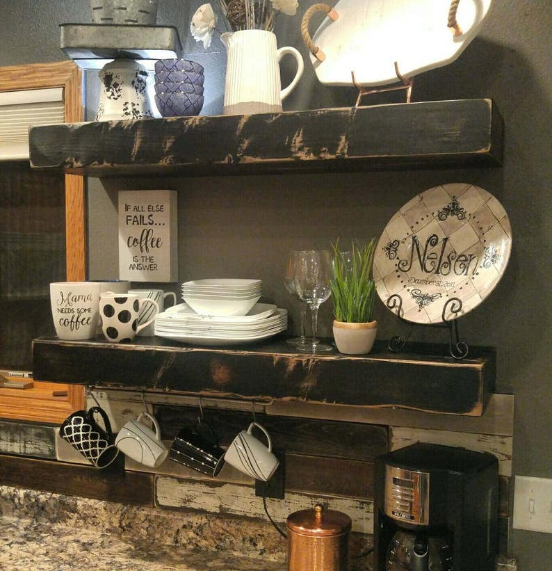 Groovy Handmade Rustic And Reclaimed Wood Floating Shelves Wall Shelf Mantle Storage Farmhouse Black Download Free Architecture Designs Rallybritishbridgeorg