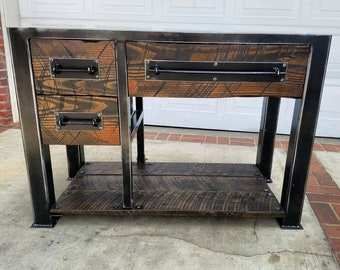 Vintage Industrial Reclaimed Bathroom Vanity