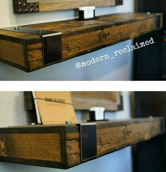 Rustic Reclaimed Wooden Floating Shelves Wall Shelfmantel Etsy