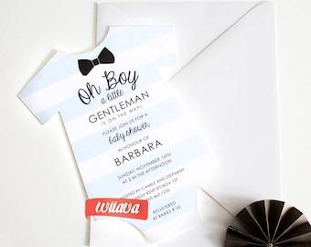 Baby Shower - OH BOY!  Invitation