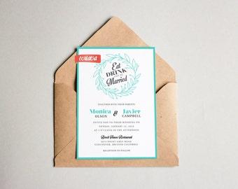 Tiffany Wedding Invitation  / DIY Printable Invitation / Wedding Invitations & Paper