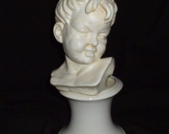 Unique Vintage E.O Brody Little Boy Bust Planter Pottery A-918