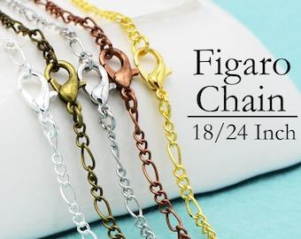 5mm x 3mm Antique Brass Figaro Chain #CC258