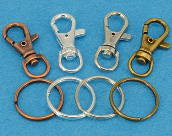 8Pcs Gold Plated keyclasps,key clasp,Lobster Clasp Claw Key Chain Supplies,Large DIY Purse Clip Findings,34x23mm