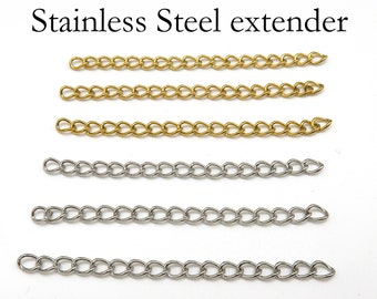 50x3mm 100 pcs 2 inch each - Gunmetal Extender Extension Chain Links Tails