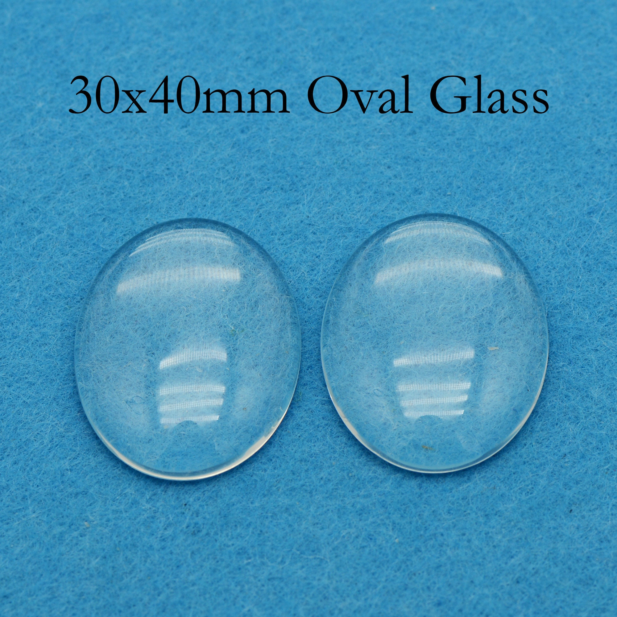 FREE SHIPPING 30x20 Crystal Clear Domes Cabs 20x30mm Oval Glass Cabochons