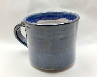 Blue Coffee or Tea Mug Handmade from Stoneware Clay.  These are ready to ship.