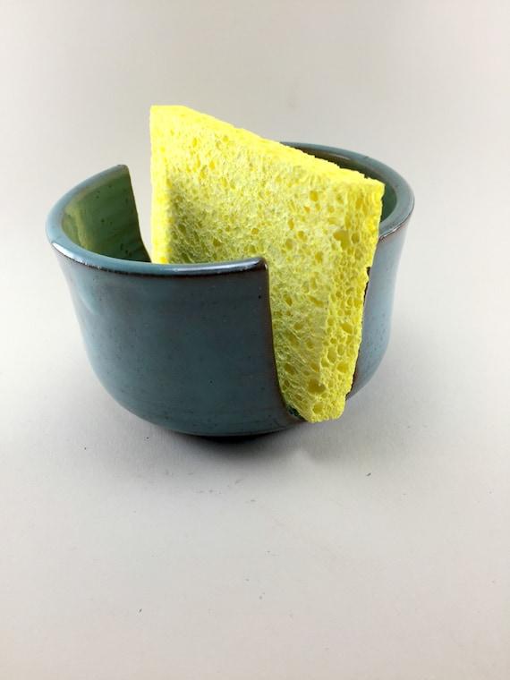 Simple Kitchen Sponge Holder, Turquoise, Oatmeal or Chameleon Green Glazes.