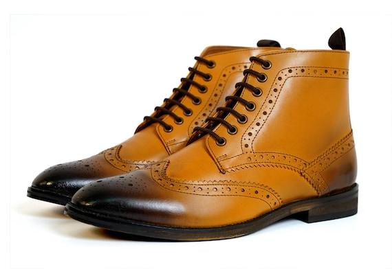 Aspele  s Classic Tan rodage cuir richelieus bottines bottines richelieus af7eea