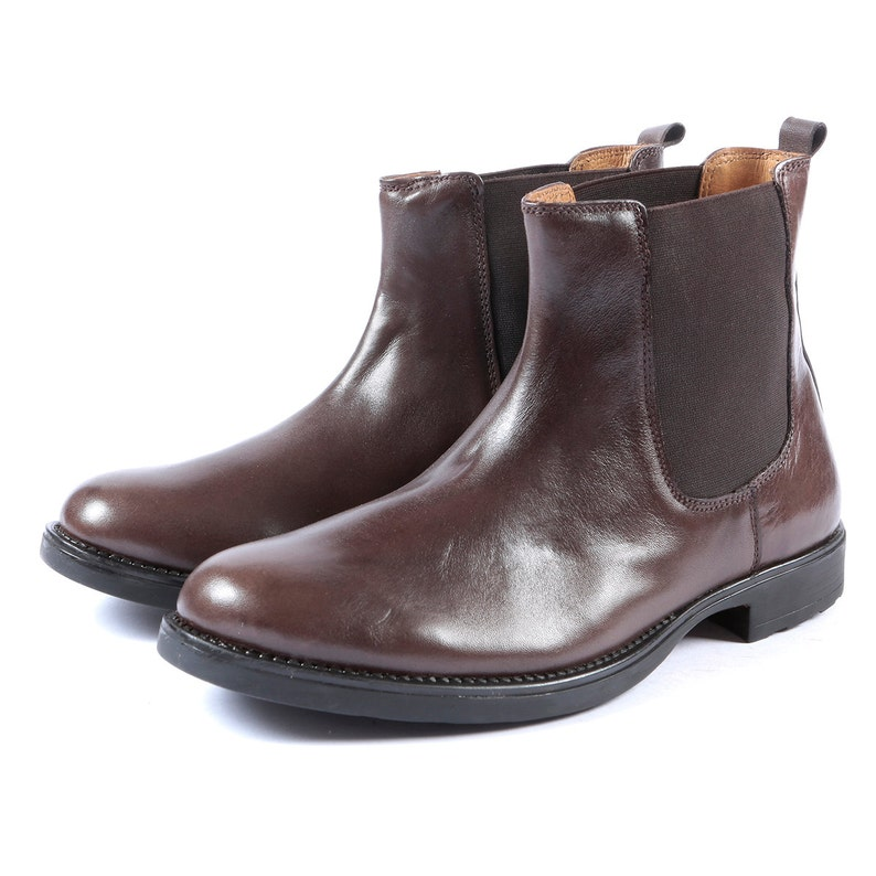 5a6daf0babf0e Aspele Mens Brown Leather Chelsea Ankle Boots