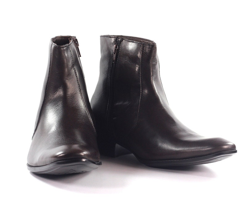 31d03acd0aa34 Aspele Mens Brown Classic Leather Chelsea Ankle Boots