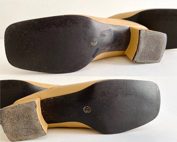 90s mules / nude mules / 90s shoes / heeled mules… - image 8