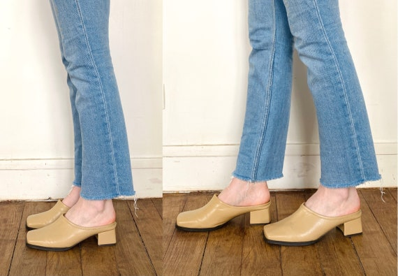 90s mules / nude mules / 90s shoes / heeled mules… - image 7