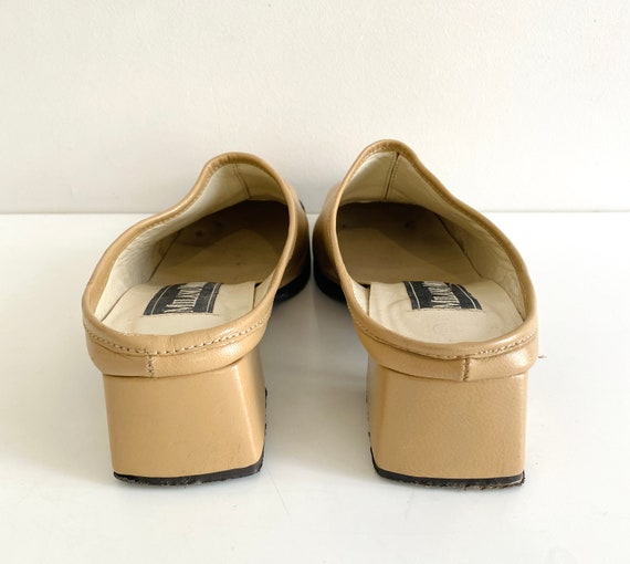 90s mules / nude mules / 90s shoes / heeled mules… - image 5