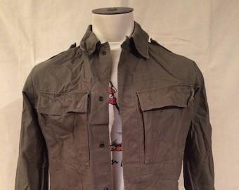Vintage Dutch Army Shirt - Military - Hipster - Rebel - Netherlands - Autumn - Unisex - Size Medium