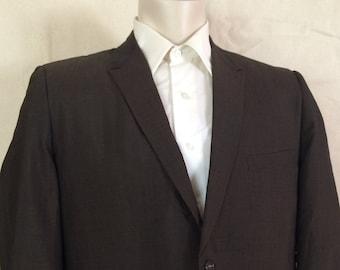 1960s Brown Blazer - Mens Dark Brown Sport Coat size Large 44R
