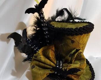 Mad hatter mini top go batty Halloween bats Alice in wonderland, tea party