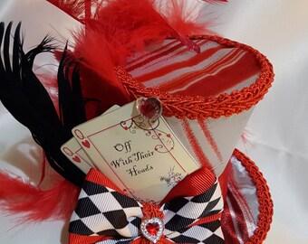 Mad hatter mini top hat queen of hearts  Alice in wonderland, tea party