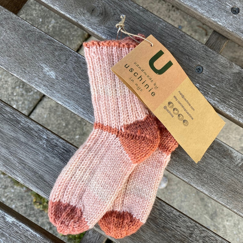 cashmere mix baby /& toddler socks hand-knit!