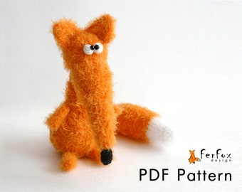 Crochet fox pattern Amigurumi DIY tutorial Fox PDF pattern Amigurumi fox pattern Crochet amimal pattern Woodland animal Crochet toy pattern
