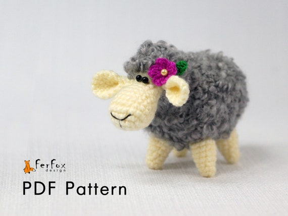 Crochet Sheep Pattern Amigurumi Sheep Pdf Pattern Amigurumi Etsy